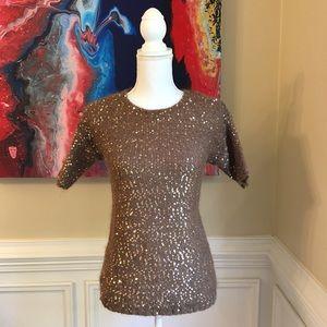 ANN TAYLOR Mohair Blend Sequin Sweater